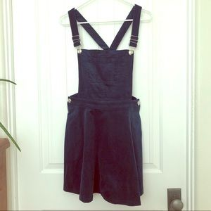 Blue Courdroy Skater Overall Skirt Size Small